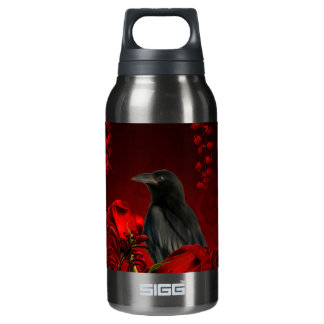 Wonderful crow insulated water bottle