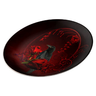 Wonderful crow plate