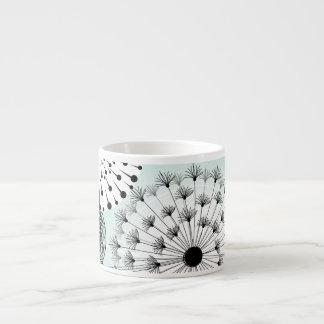 Wonderful Dandelions Blue Espresso Mug