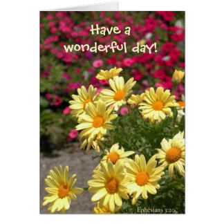 Wonderful day! note card