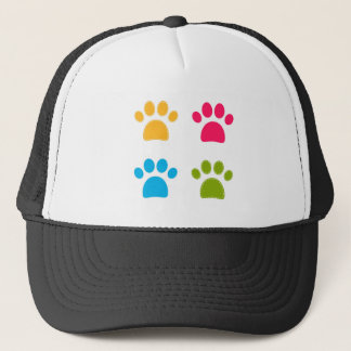 Wonderful dogs paws colored edition trucker hat