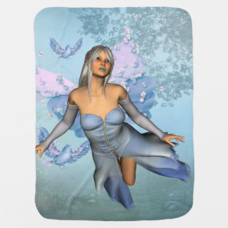 Wonderful fairy with fantasy birds baby blanket