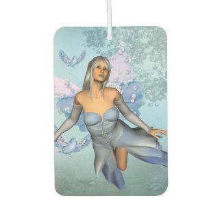 Wonderful fairy with fantasy birds car air freshener