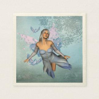 Wonderful fairy with fantasy birds paper serviettes