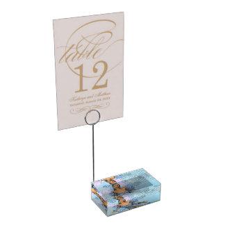 Wonderful fairy with fantasy birds table card holder