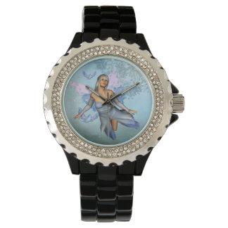 Wonderful fairy with fantasy birds watch