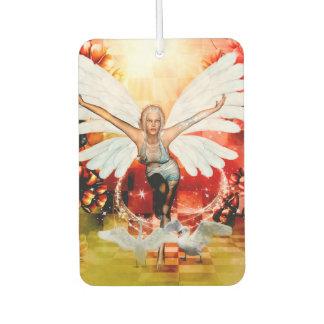 Wonderful fairy with swan car air freshener