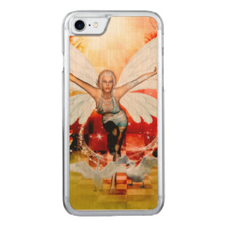 Wonderful fairy with swan carved iPhone 8/7 case