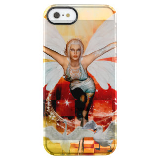 Wonderful fairy with swan clear iPhone SE/5/5s case
