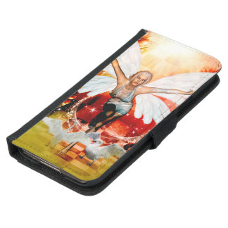 Wonderful fairy with swan samsung galaxy s5 wallet case