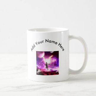 Wonderful  fairy with water wings basic white mug