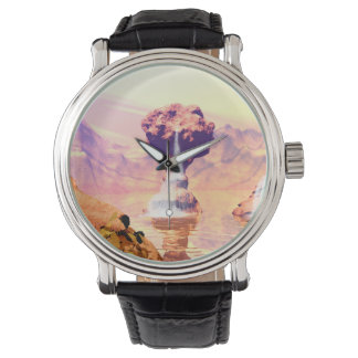 Wonderful fantasy landscape wristwatches