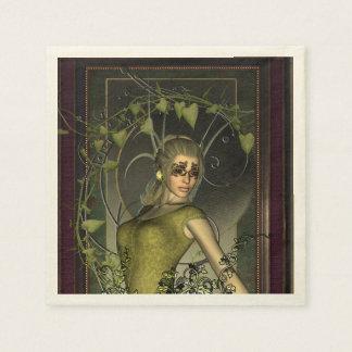 Wonderful fantasy women paper serviettes