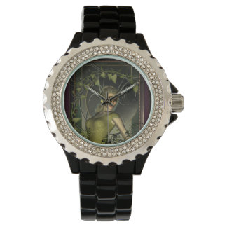 Wonderful fantasy women with leaves watch