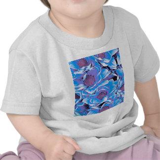 wonderful flowers 08 blue tee shirts