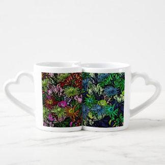 wonderful flowers paint lovers mug set