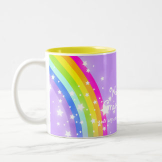 Wonderful Granddaughter rainbow violet blue mug