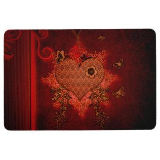 Wonderful heart floor mat