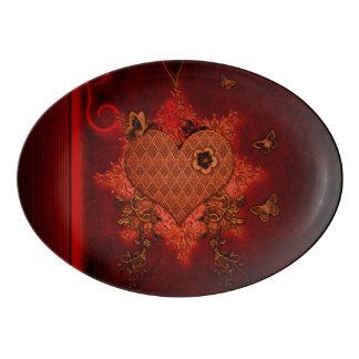 Wonderful heart porcelain serving platter