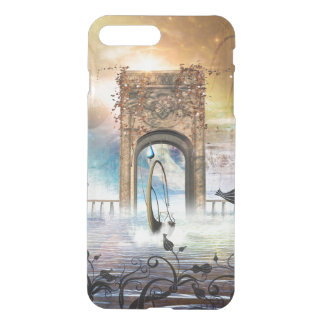 Wonderful lamp boat drives by a gate iPhone 8 plus/7 plus case