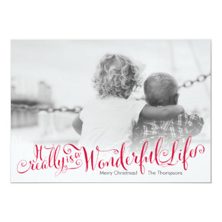 Wonderful Life Script Holiday Photo Card