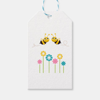 Wonderful little cute Bees yellow Gift Tags