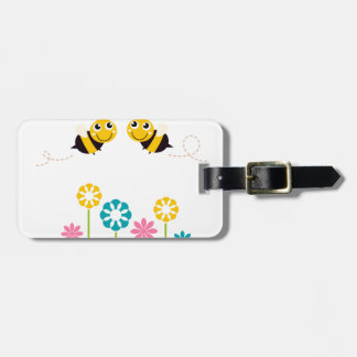 Wonderful little cute Bees yellow Luggage Tag