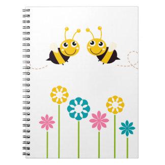 Wonderful little cute Bees yellow Notebook