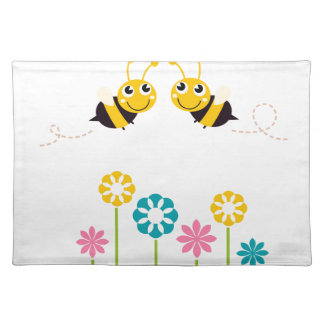 Wonderful little cute Bees yellow Placemat