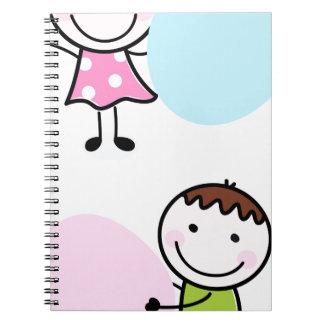 Wonderful little kids / creative t-shirts spiral notebook