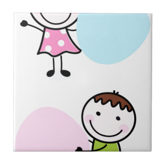 Wonderful little kids / creative t-shirts tile