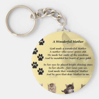 Wonderful Mother - Cats Key Ring