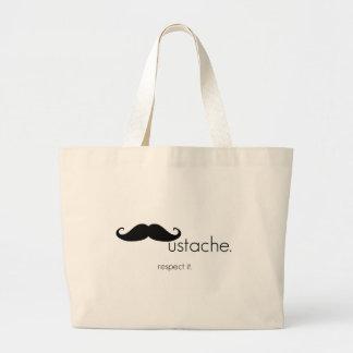 wonderful mustache ag bag