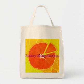 wonderful orange color canvas bag