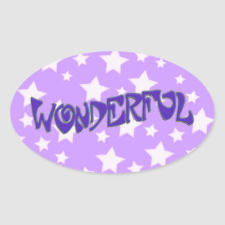 Wonderful Oval Sticker