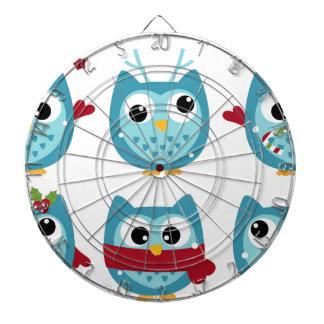 Wonderful owls blue on white dart boards