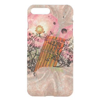 Wonderful pan flute with roses an soft background iPhone 7 plus case