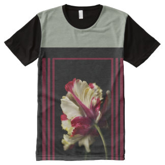 Wonderful Parrot Tulip Design by Bubbleblue All-Over Print T-Shirt
