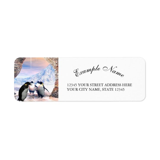 Wonderful penguin return address label