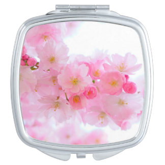 Wonderful Pink Japanese Cherry Blossom Makeup Mirror