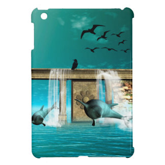 Wonderful playing dolphins in a fantasy world cover for the iPad mini
