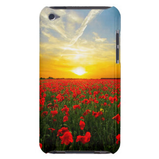 Wonderful Poppy Field Sunset Horizon Barely There iPod Cover