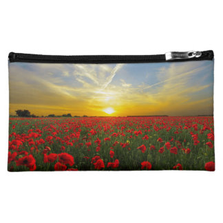 Wonderful Poppy Field Sunset Horizon Cosmetic Bag