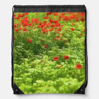 Wonderful poppy flowers V - Wundervolle Mohnblumen Drawstring Backpacks
