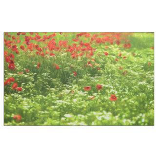 Wonderful poppy flowers V - Wundervolle Mohnblumen Fabric