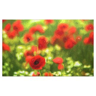 Wonderful poppy flowers VI - Wundervolle Mohnblume Fabric