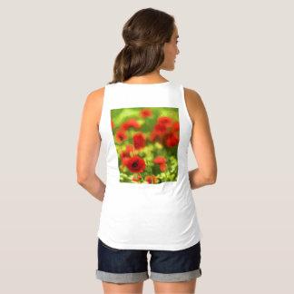 Wonderful poppy flowers VI - Wundervolle Mohnblume Maternity Singlet