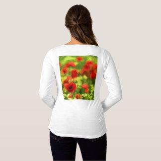 Wonderful poppy flowers VI - Wundervolle Mohnblume Maternity T-Shirt