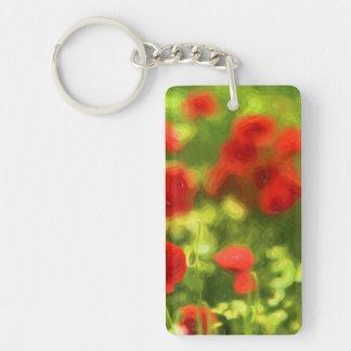 Wonderful poppy flowers VI - Wundervolle Mohnblume Single-Sided Rectangular Acrylic Key Ring