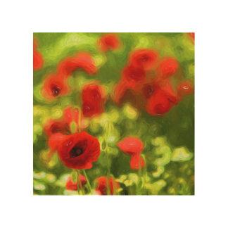 Wonderful poppy flowers VI - Wundervolle Mohnblume Wood Wall Decor